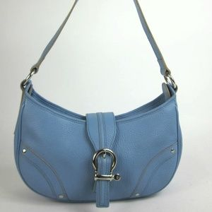 BURBERRY London: Light Blue, Leather Shoulder Bag
